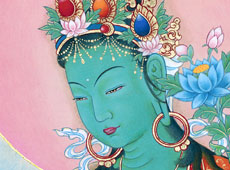 see the detail of Green Tara